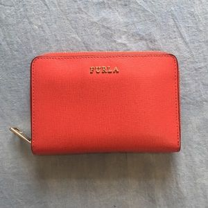 Furla strawberry red wallet